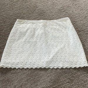 Cream Lilly Pulitzer skirt eyelet 6 white tate